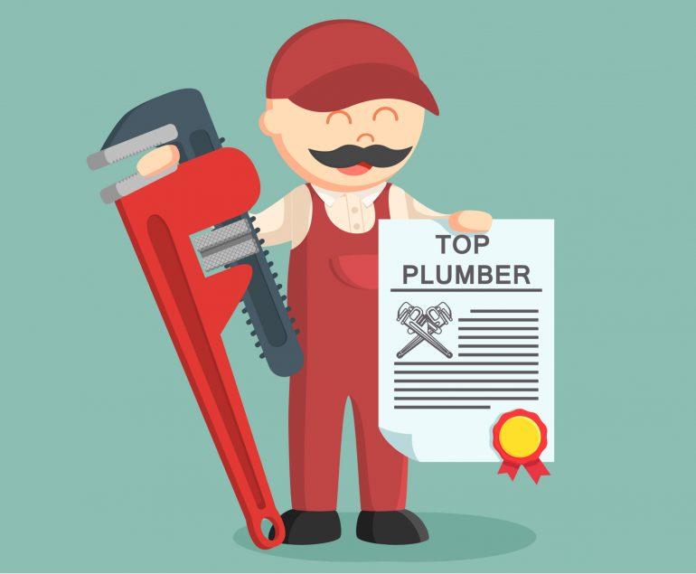 a cartoon of a Top Plumber small image